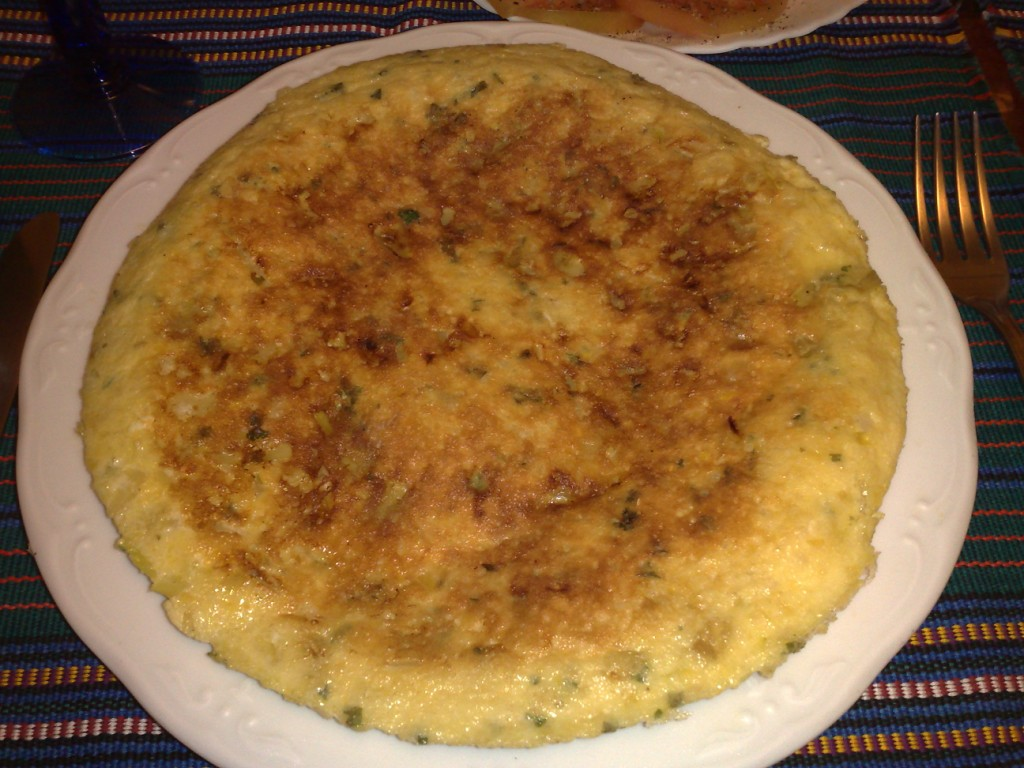 Tortilla de garbanzos.