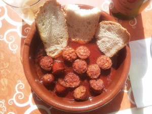 Chorizo asturiano a la sidra