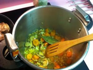 Rehogamos las verduras